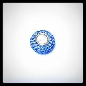 Bell Silverworks Light Blue Bead Charm